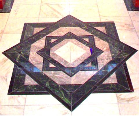 Marble inlay floor detail