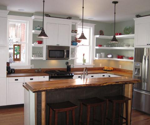 Kitchen bar  Allen residence